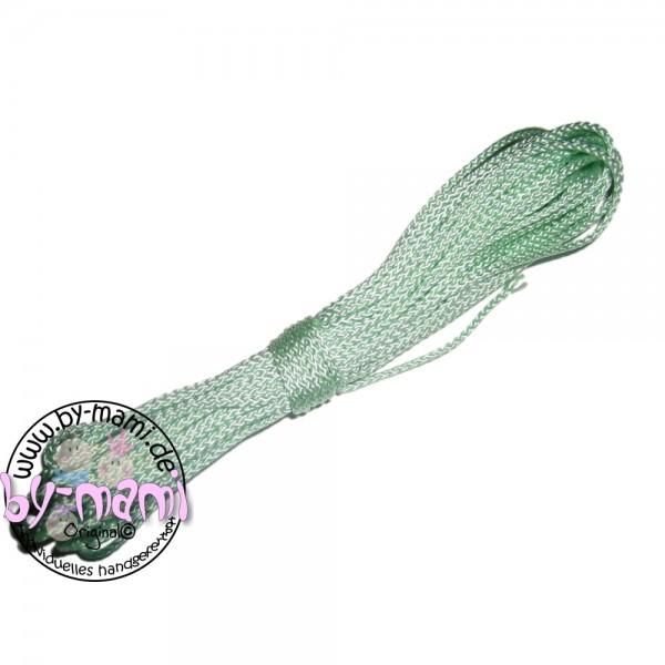 Ausverkauf 5 m PP-Schnurstück mintgrün glänzend
