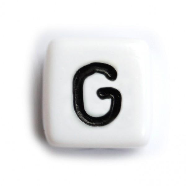 Kunststoffbuchstabenwürfel 10 mm einzeln G