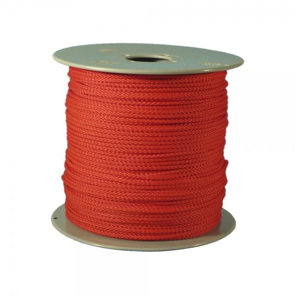100 m Schnurrolle, 1,5 mm Durchmesser, rot