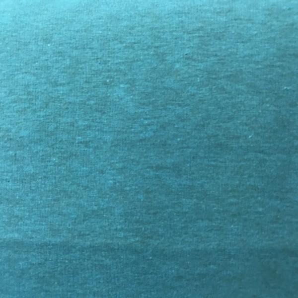 dünner melierter Kuschelsweat türkis
