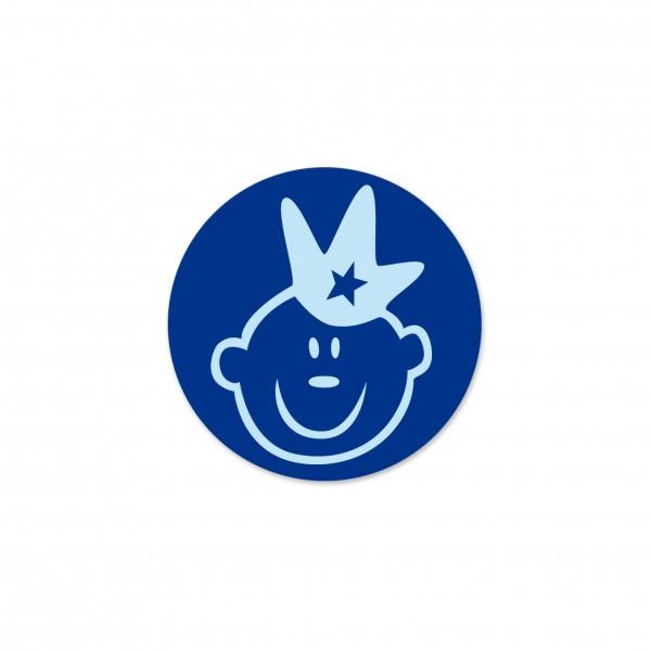 Ausverkauf Motivperle Prinz horizontal dunkelblau/babyblau
