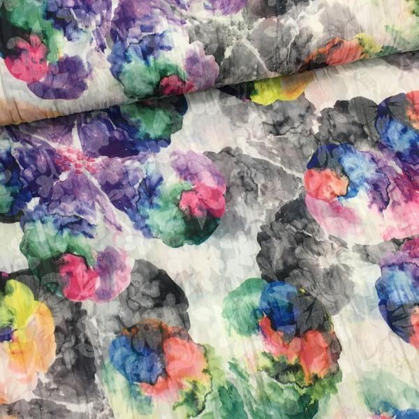 leichter Baumwollstoff floraler Print