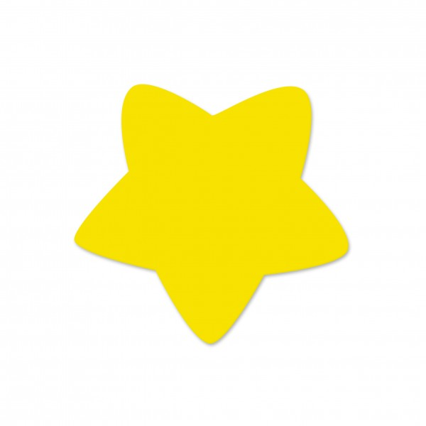 Motivperle Sternchen horizontal gelb