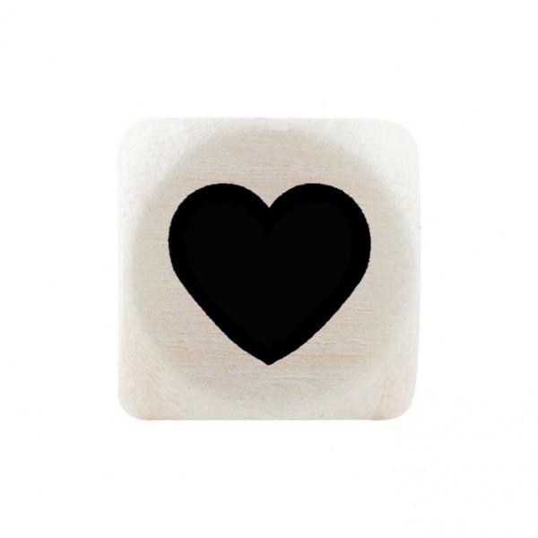 Premiumbuchstabe 10 mm schwarz Herz ausgefüllt
