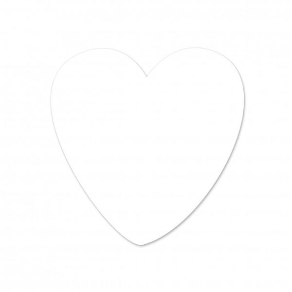 Ausverkauf Motivperle Herz horizontal weiß