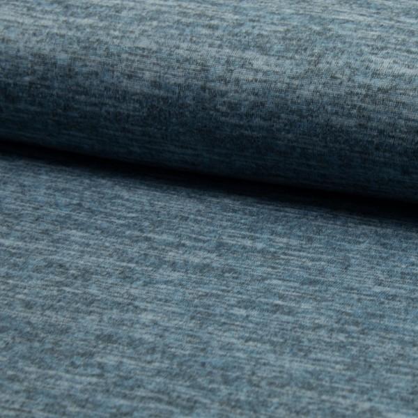 melierter Strickjersey blau