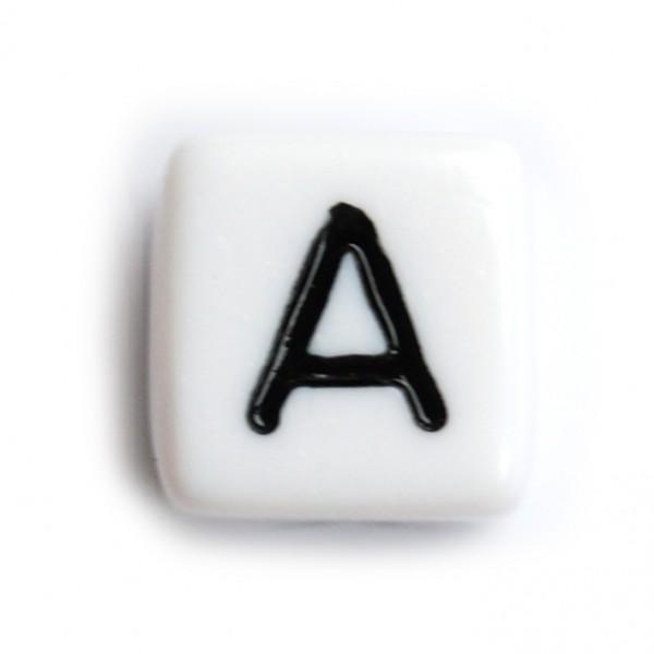 Kunststoffbuchstabenwürfel 10 mm einzeln A