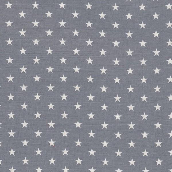 Angebot Baumwollstoff Carrie von Swafing, Sterne 1 cm weiß/grau