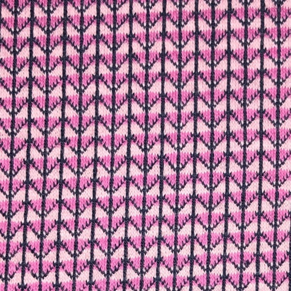 Jacquardjersey Knit Knit Ministripes rosa/pink (GOTS) by Albstoffe und Hamburger Liebe