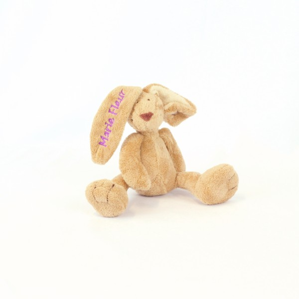 Minihase mit Wunschname hellbrombeere (Modell Marie Fleur)