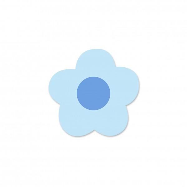 Motivperle Mini-Blume horizontal babyblau/hellblau