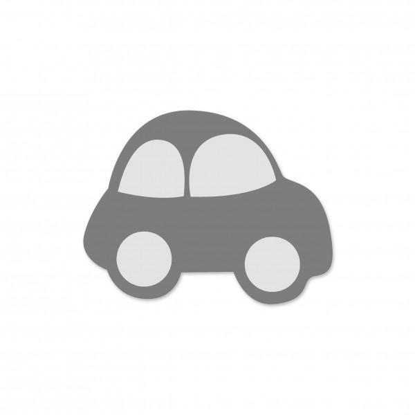 Motivperle Auto horizontal mittelgrau/weiß