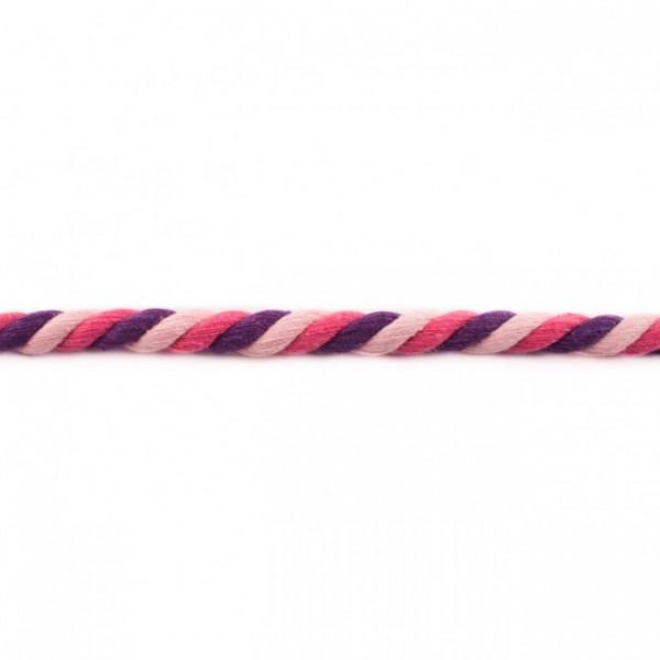 gedrehte Maxi-Kordel 12 mm mehrfarbig rosa/pink/lila