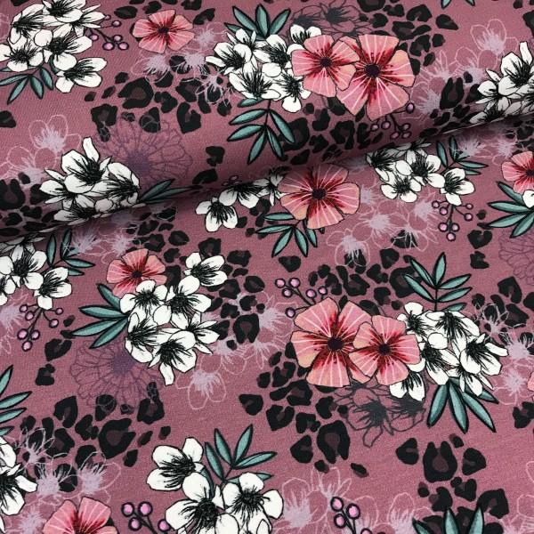 Sommersweat Wild Glory Muster mit Blumen