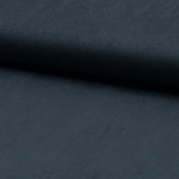 Wildlederjerseyimitat Klassik dunkelblau