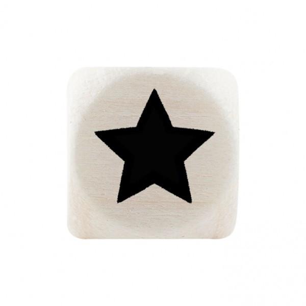Premiumbuchstabe 10 mm schwarz Stern ausgefüllt