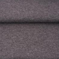 Baumwoll-Bündchen meliert dunkelgrau
