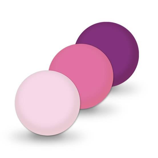 Ausverkauf Uniperlen 12 mm violett-mix