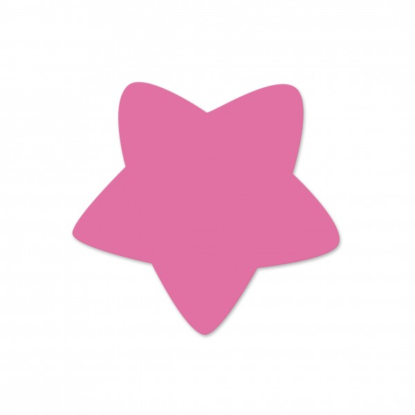 Motivperle Sternchen horizontal pink