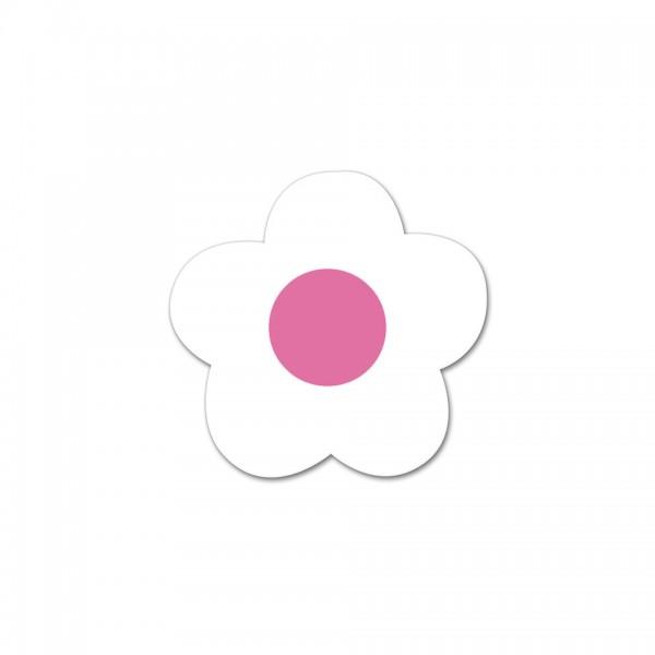 Motivperle Mini-Blume horizontal weiß/pink