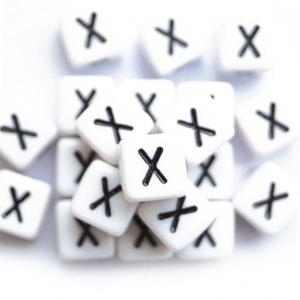 ca. 550 Kunststoffbuchstabenwürfel 10 mm X