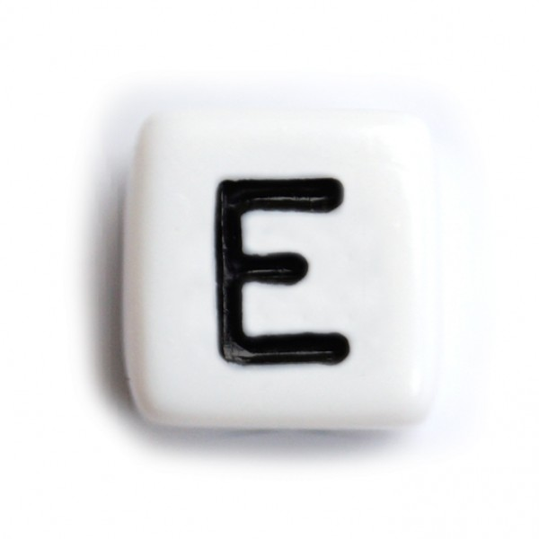 Kunststoffbuchstabenwürfel 10 mm einzeln E