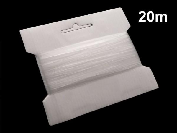 20 m Silikongummiband transparent Breite 8 mm