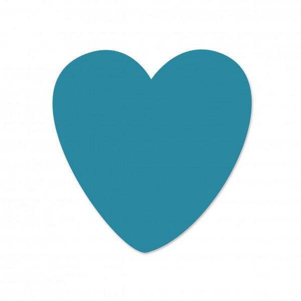 Ausverkauf Motivperle Herz horizontal dunkeltürkis