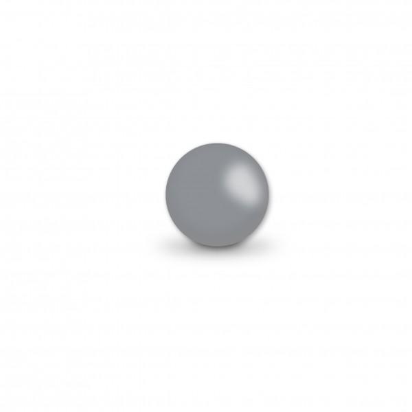 Uniperlen 8 mm mittelgrau