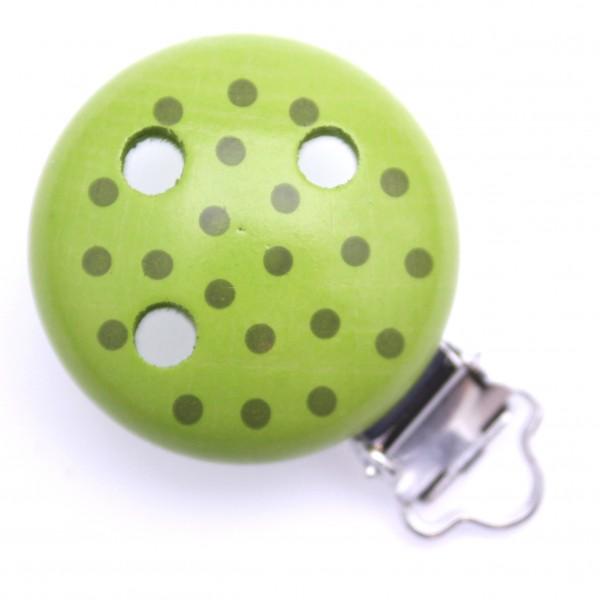 Sale Motivclip Tupfen lindgrün/olive