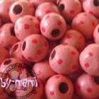 Ausverkauf Bicolourperlen, ca. 25 Stück Punkte rosa