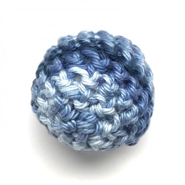 DEAL Häkelkugel mit Wattefüllung blau meliert