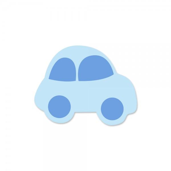 Motivperle Auto horizontal babyblau/skyblau