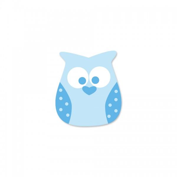 Ausverkauf Motivperle Eule horizontal babyblau/skyblau