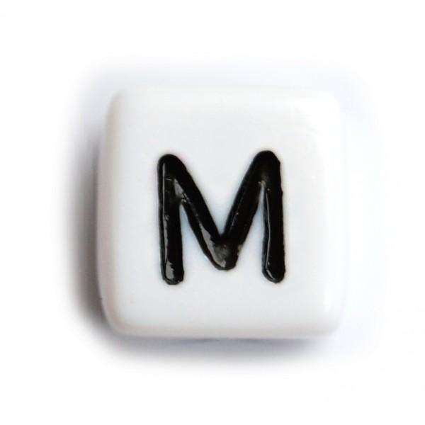 Kunststoffbuchstabenwürfel 10 mm einzeln M