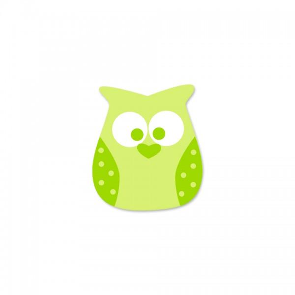Angebot Motivperle Eule vertikal lemon/apfelgrün