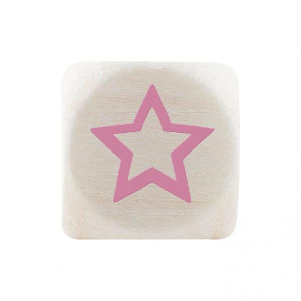 Premiumbuchstabe 10 mm rosa Stern
