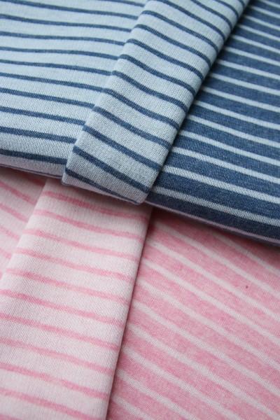 Hamburger Liebe by Albstoffe Dreamy Doubleface Stripes rosa