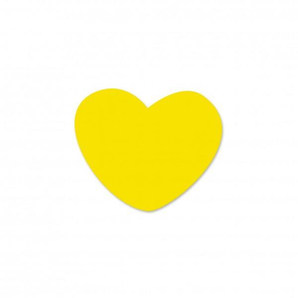 Motivperle Miniherzchen vertikal gelb