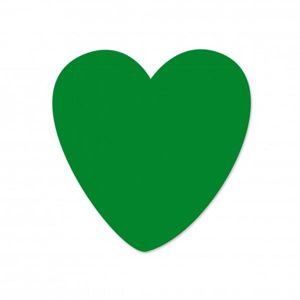 Ausverkauf Motivperle Herz horizontal mittelgrün