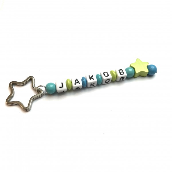 Schlüsselanhänger mit Wunschname (Modell Jakob)