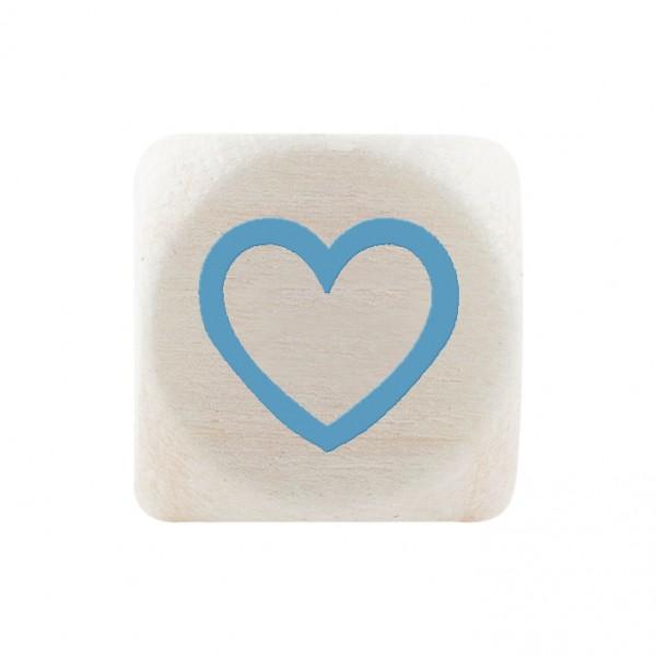 Premiumbuchstabe 10 mm babyblau Herz