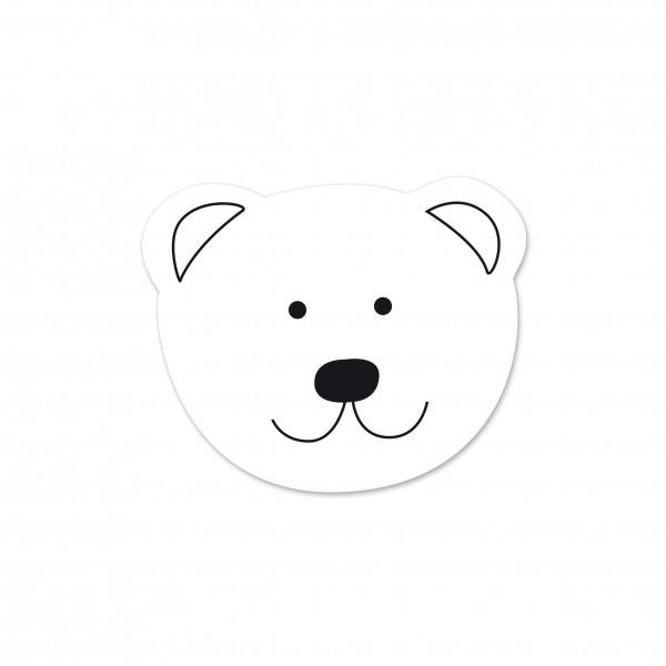 Angebot Motivperle Mini-Bär vertikal weiß