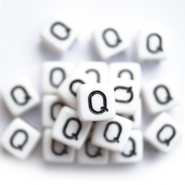 ca. 550 Kunststoffbuchstabenwürfel 10 mm Q