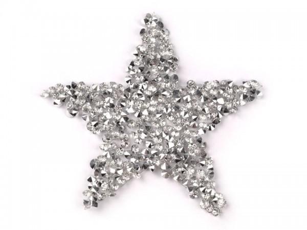 Bügelbild, Applikation Steinchen als Stern