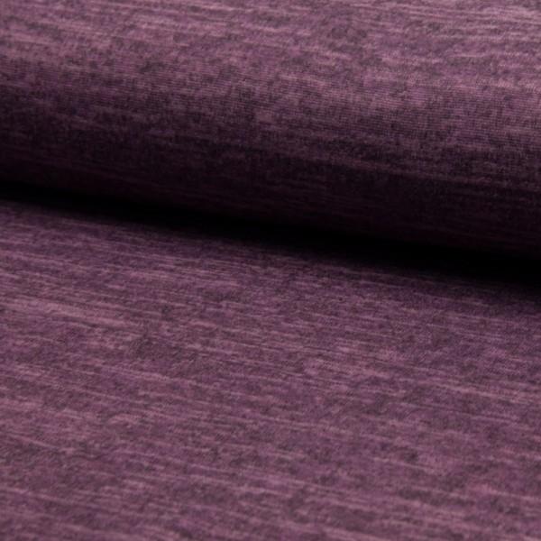 melierter Strickjersey violett