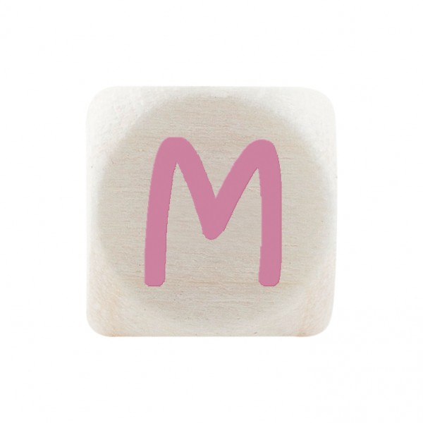 Premiumbuchstabe 10 mm rosa M