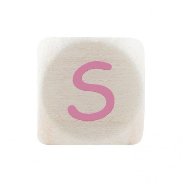 Premiumbuchstabe 10 mm rosa S