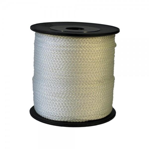 100 m Schnurrolle, 1,5 mm Durchmesser, weiß