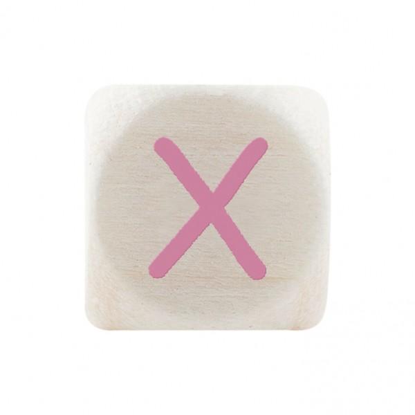 Premiumbuchstabe 10 mm rosa X